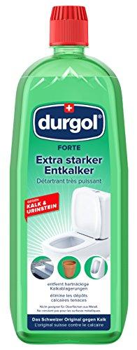 durgol FORTE – Extra starker Entkalker für den Sanitär- und Baubereich - gegen besonders hartnäckigen Kalk & Urinstein – Deutsche Version –1x1000ml