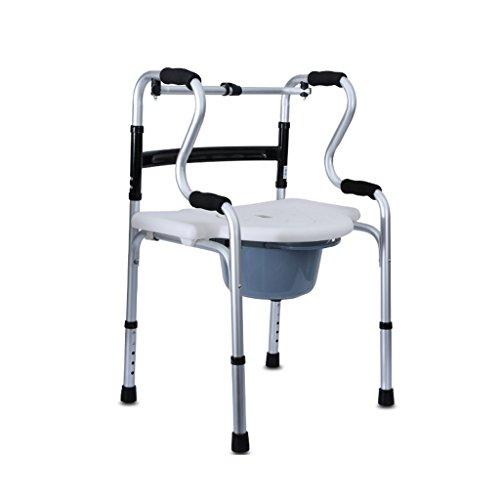 Walking Frame Zimmer Walker für ältere Menschen Multi-Funktions-Anti-Rutsch kann Höhe gefaltet Werden Rollatoren