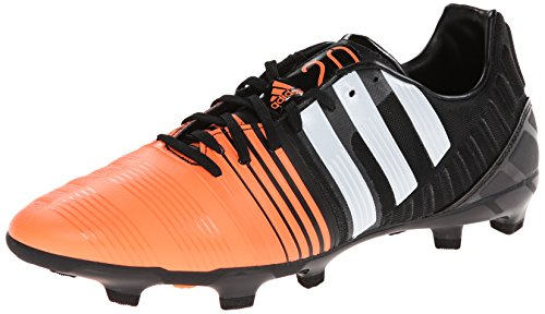 adidas Performance Men's Nitrocharge 2.0 Firm-Ground Soccer Cleat, Core Black/Running White/Flash Orange, 7.5 M US