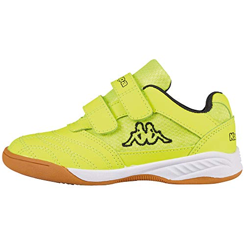 Kappa Unisex-Kinder Kickoff Low-Top Sneaker, Gelb (Yellow/Black 4011), 31 EU