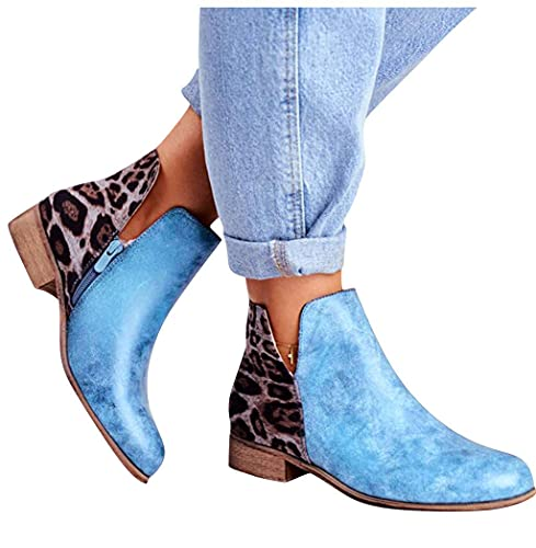 Women's Chelsea Boots Fashion Chunky Wedges Platform Slip On Combat Ankle Booties Winter Short Booties Shoes
