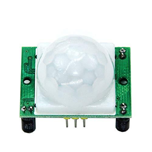 KingBra HC-SR501 AD-007 Módulo de sensor infrarrojo de cuerpo humano, sensor infrarrojo piroeléctrico, sensor de movimiento PIR, sensores de seguridad y alarmas