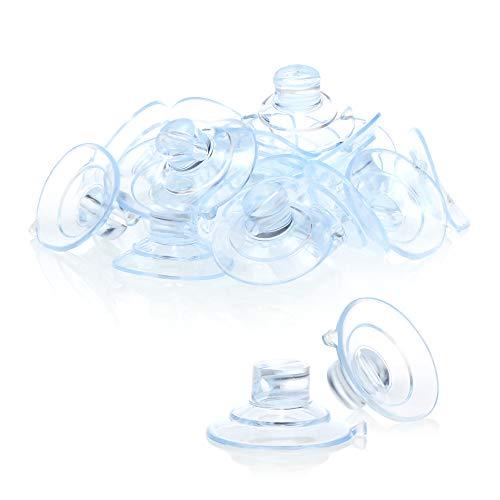 com-four 20x Soporte de Ventosa para Luces de Hadas - Ventosas con Ranura en Transparente - Soporte con Ventosa para la decoración en Navidad, Pascua, Año Nuevo