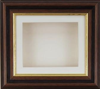 Caja profunda BabyRice marco para 2D 3D medalla del recuerdo de unos objetos de arte easyworld 1st patucos flores de oro de caoba/beige/Beige forro