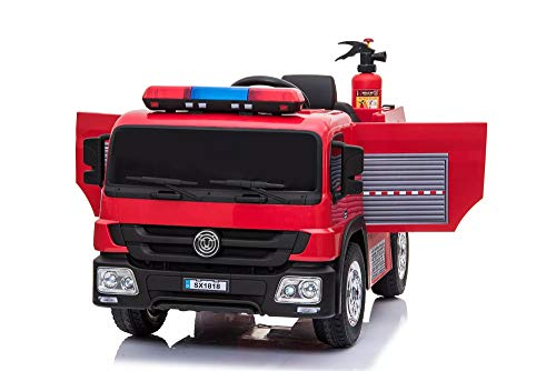 RV-Parts Kinderauto Feuerwehr Feuerwehrauto Kinderfahrzeug Kinder Elektroauto Firetruck