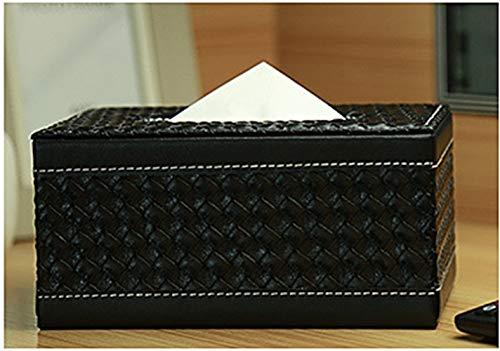 YUMUYMEY Scatola in Tessuto di Carta per alberghi in Pelle per Ufficio di Grande capacità (Color : Black, Size : S)