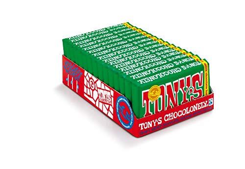 Tony's Chocolonely - Chocolate Bar Milk Hazelnut - 15 x 180 gram - Fairtrade Chocolate