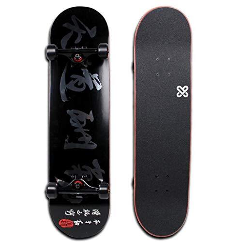 Skateboard-Einsteiger mit doppeltem Skateboard-Profi-Allrad-Skateboard Die professionellen Skater-Skateboardlager gleiten sanft LJJOZ (Color : B)