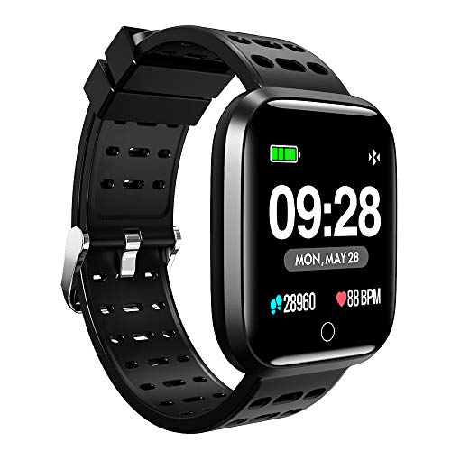 Lenovo E1 Smart Watch- Black, silicone (10 Days Battery Life_Compatible with Android Version 5 and iOS 8 Onwards_IP67)
