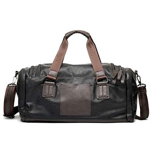 WEIXIER-bagTravel tas lederen reistas koffer mannen lederen nachtreistas weekend tas grote capaciteit reistas fitness tas