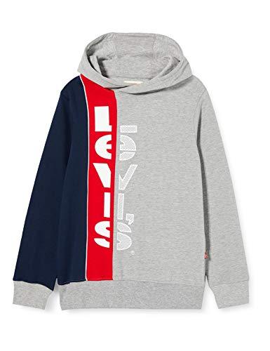 Levi's Kids Jungen Pullover Lvb Striped Hookup Po Hoodie Grey Heather 14 Jahre