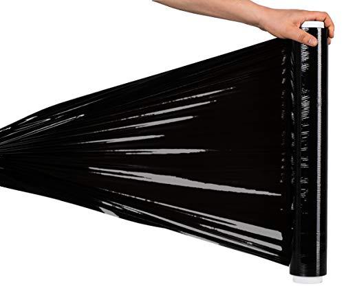 Stretchfolie, Schwarz (7,5 x 7,5 x 40 cm), 0,9 kg