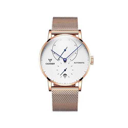 automatico da uomo in acciaio orologio da polso con calendario...
