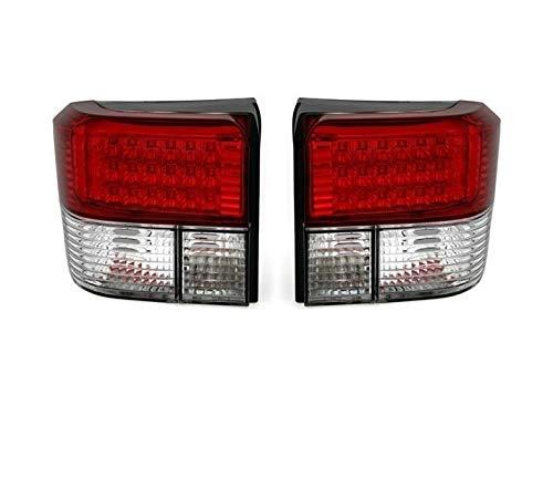 V-MAXZONE VT41 Jeu de feux arrière LED en verre transparent Rouge/blanc