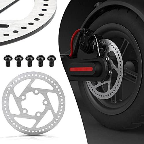 Zhat Rotores de Disco de Scooter eléctrico, Rotor de Freno de Disco Que Protege eficazmente la Rueda con Pastillas de Freno 5 Pernos para Scooter eléctrico M365 para modificación de Bicicleta