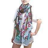 LZXO - Bufanda para mujer, diseño de búhos con patrón de árbol de...