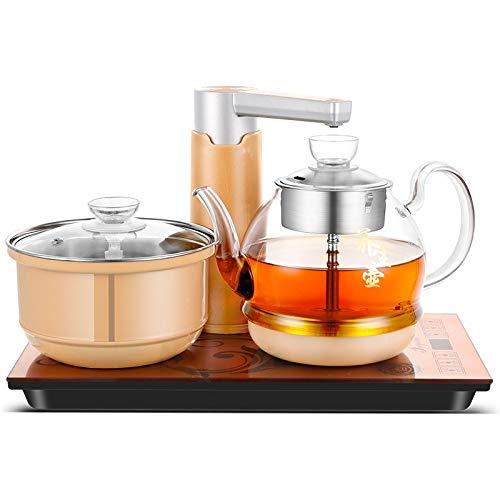 PAN-ES Teteras de Estilo Chino, Automático Agregue el Agua Sistema eléctrico Completo Inteligente de la Estufa de té hervida Vapor de la Caldera del Acero Inoxidable (Color : Gold)