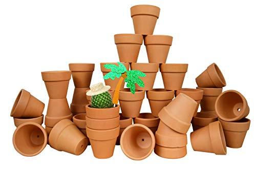 My Urban Crafts Blumentöpfe aus Terra-Baumwolle, klein, 5 cm, für Rasen und Garten, Keramik, ideal für Sukkulenten und Kaktus, für Bastelprojekte, Hochzeiten, Partys, 40 Stück