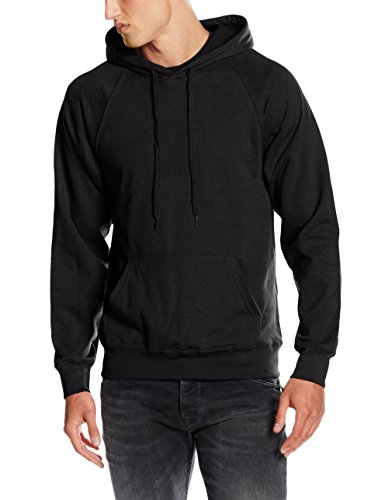 Fruit of the Loom Herren SS056M Kapuzenpullover, Schwarz-Schwarz, M