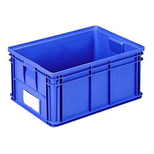 Bac de manutention gerbable - L x l x h 650 x 470 x 300 mm - coloris vert, lot de 3 - bacs bacs de transport bacs de transport gerbables bacs gerbables Bac Bac de stockage Bac en plastique Bac