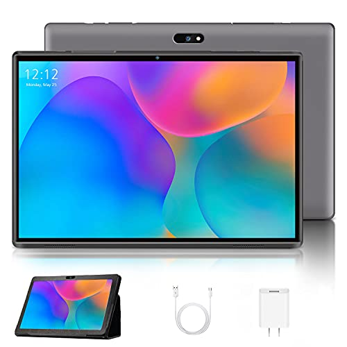 4G LTE Tablette Tactile 10.1 Pouces Android 10.0 Certifié par Google GMS, Tablette Full HD 1.3GHz CPU 3Go RAM 32Go ROM Support TF Extension (128 Go) et Double caméra WiFi/Bluetooth/GPS/OTG - Gris