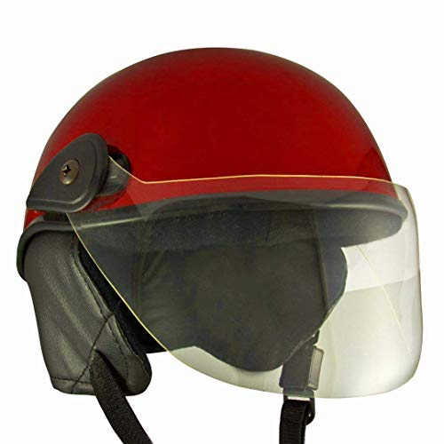 Lively Unisex scooty helmets for men, women and kids (Medium, Charming Red)