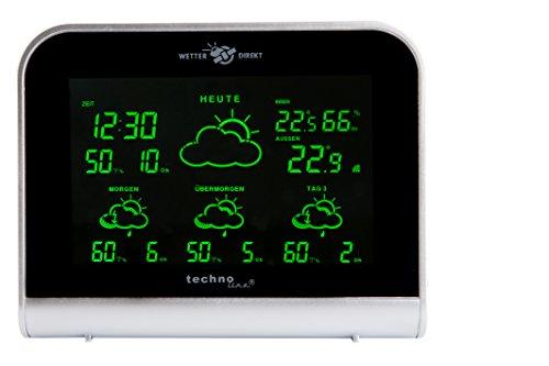 WD 2900 – satellitengestützte Wetterstation mit 4 Tagesvorhersage und LED - Farbdisplay, modernes Design, Besser als jedes Thermometer und mindestens so gut wie der deutsche Wetterbericht