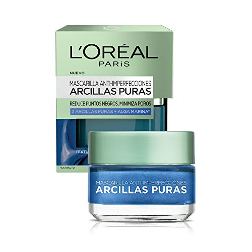 L'Oréal Paris Pure-Clay Mask Skincare Pure-Clay Face Mask with Seaweed for Redness and Imperfections to Clear & Comfort, 1.7 oz.