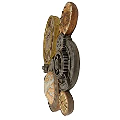 Design Toscano Gears of Time Steampunk Wall Clock Sculpture, Medium 43.25 cm, Polyresin, Full Color #2