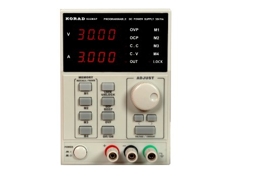 KORAD KA3005P - Programmable Adjustable 30V, 5A DC Linear Power Supply