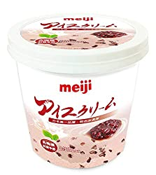 Meiji Hokkaido Red Bean Ice Cream Tub, 1L - Frozen
