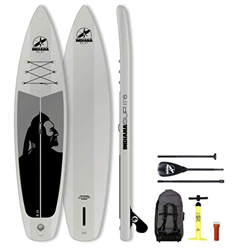 Indiana SUP 11'6 Family Inflatable Sup Pack with 3-Piece Fibre/Composite Paddle Grey 2018 Board