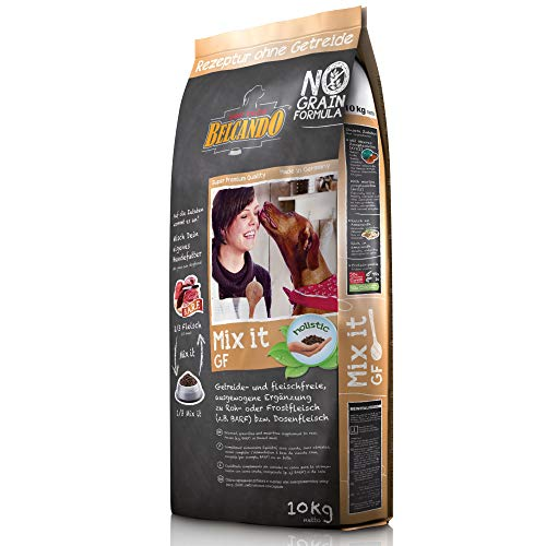 Belcando Mix It GF [10 kg] Ergänzungsfutter | Trockenfutter für Hunde zur Ergänzung bei Fleischfütterung & Barf | Ergänzungsfutter für Hunde