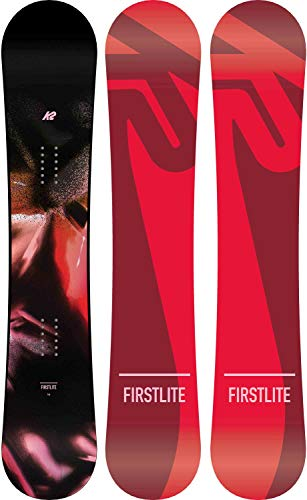 K2 First Lite - Tabla de Snowboard para Mujer - First Lite, Rocker + Flat, 150, Multicolor
