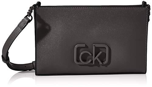 Calvin Klein Damen Ck Signature Ew Crossbody Umhängetasche, Schwarz (Black), 1x1x1 cm