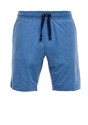 s.Oliver RED Label Herren Melierte Pyjamahose aus Jersey Blue Melange M