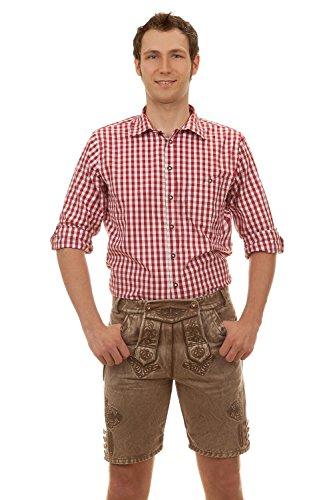 Vegane Kurze Trachtenhose Albert im Lederhosen-Look aus Baumwolle (54)