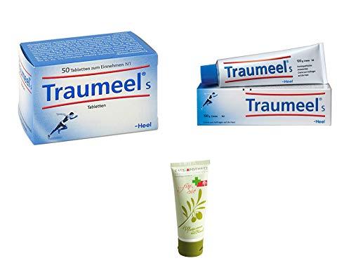 Traumeel Sparset Kombipack - Traumeel S Tabletten 50 St. & Traumeel S Creme 100 g Inkl. GRATIS Rats-Apotheke Olivenöl Pflegecreme