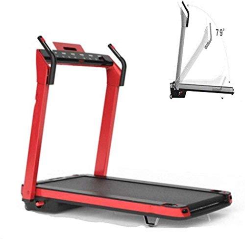 WRJY Treadmills for Home Folding, Walking Machine, Home Treadmill, Folding Electric Flat Running Ultra-Quiet Mini Treadmill Aerobic Exercise Walking Machine, Compact, Office/Home Fitness-Pink.
