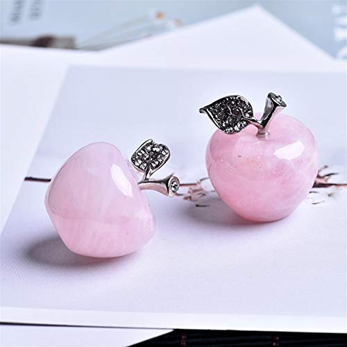 ACEACE 1PC natürliche Rosenquarz rosaer Apfel kann for EIN Paar Dekorationen zu Hause Heimtextilien Studie Raumdekoration DIY Geschenk verwendet Werden