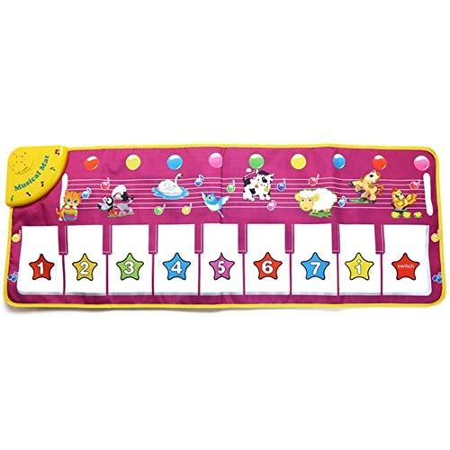 ADHKLK Kinder Kinder Usic Game Teppich Flash Piano Am Piano Pad Pedal Dance Decke Spielzeug Geschenk, 1