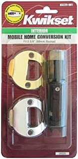 Kwikset 12003 CP PL 7/8RF 3/26 CNV KIT Mobile Home Interior Lock Conversion Kit