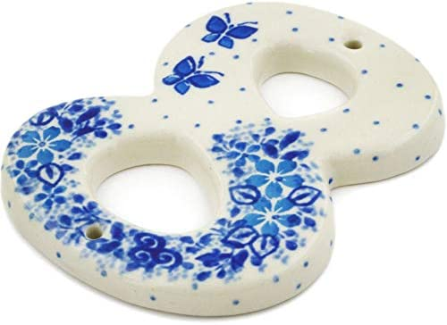 Polish Pottery 4-inch House Mail order cheap Number EIGHT made by Denver Mall 8 Ar Ceramika
