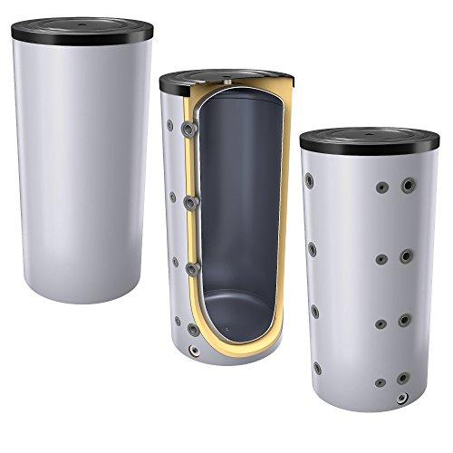 200 Liter Pufferspeicher/Heizungsspeicher - Warmwasserspeicher für Heizungswasser, Energieeffiziensklasse B, ohne Wärmetauscher, inkl. Isolierung. Für Trinkwasser siehe emaillierte EWS8B Reihe.