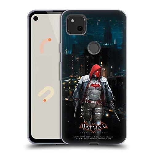 Head Case Designs Oficial Batman: Arkham Knight Capucha Roja Personajes Carcasa de Gel de Silicona Compatible con Google Pixel 4a