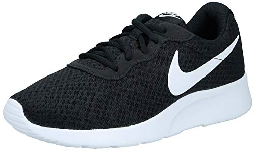 Nike Women's Tanjun Running Sneaker Black/White 6