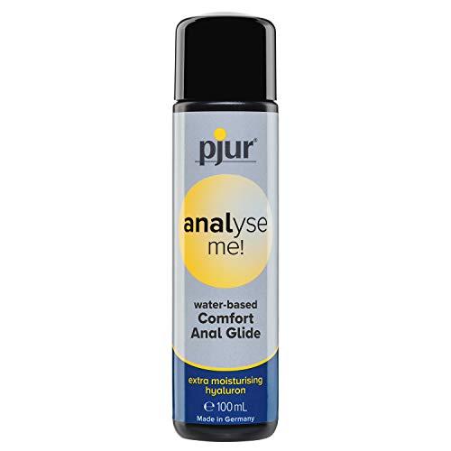 pjur analyse me! Comfort Water Anal Glide - Lubricante acuoso - para sexo anal cómodo - adecuado para juguetes eróticos (100ml)