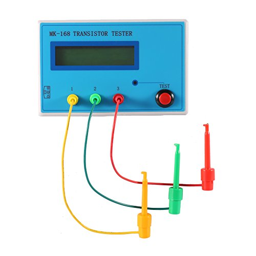 Yosoo Transistor NPN PNP MOSFET Diode Tester Capacitor ESR Resistor Meters