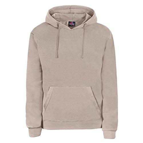 SUMG Kapuzenpullover Hoodie Kapuzen-Sweatshirt 'Basic Hooded Pullover' (XL, Sand/Beige)