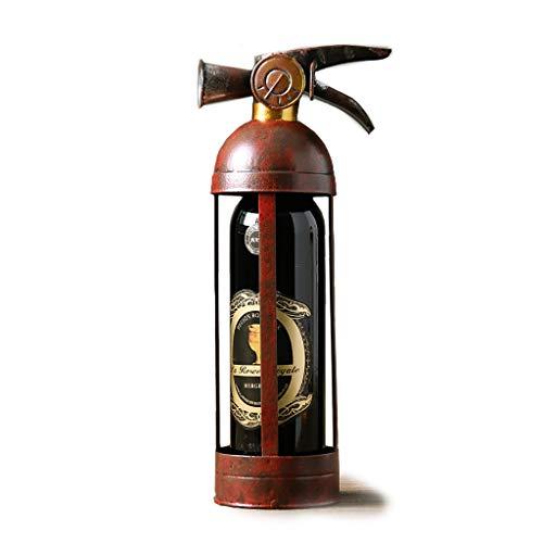 YYDE Estante Extintor Forjado del Vino, Estante pequeño Rojo Vino, decoración casera, Bar, Bodega - Independientes Vino Estante de exhibición
